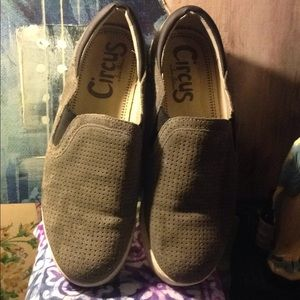 Sam Edelman circus gray suede shoes size 9 med